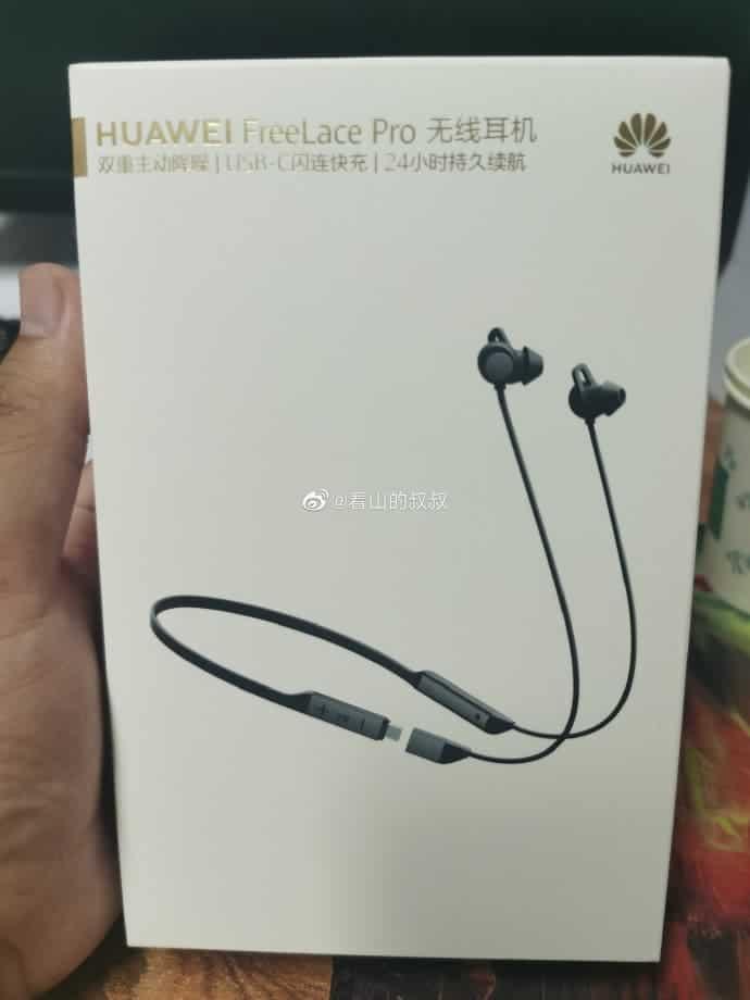 Ιδού το κουτί του νέου ασύρματου ακουστικού Huawei Freelace Pro 1