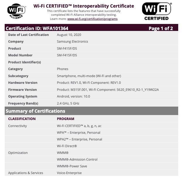 Πιθανόν έρχεται ένα προσιτό αναδιπλούμενο τηλέφωνο από την Samsung, πήρε και την πιστοποίηση Wi-Fi Alliance 1