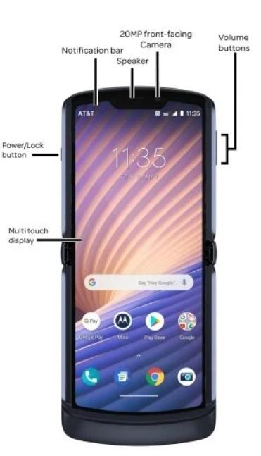 Βρήκε νέο μέρος η Motorola για να κρύψει τον αισθητήρα ανάγνωσης δακτυλικών αποτυπωμάτων του Moto Razr 5G 1