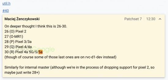 """Η πρώτη αναφορά για το Google """"Pixel 5a"""" εμφανίζεται στο AOSP 2"""