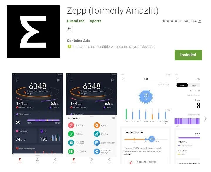 Η εφαρμογή Amazfit μετονομάστηκε σε Zepp 1