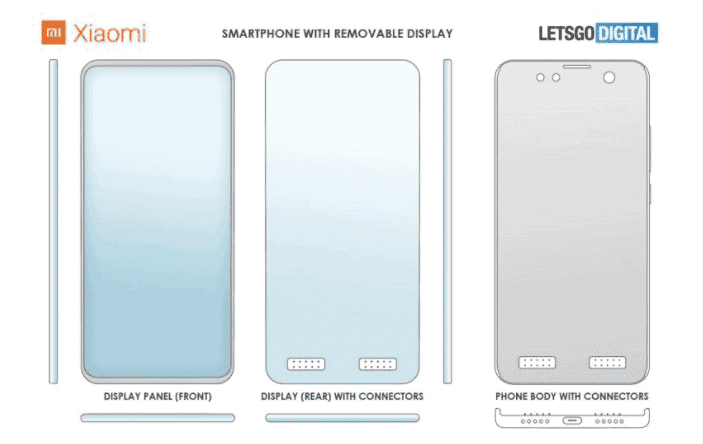 Η Xiaomi κατοχυρώνει δίπλωμα ευρεσιτεχνίας για ένα τηλέφωνο με μια αποσπώμενη οθόνη 1