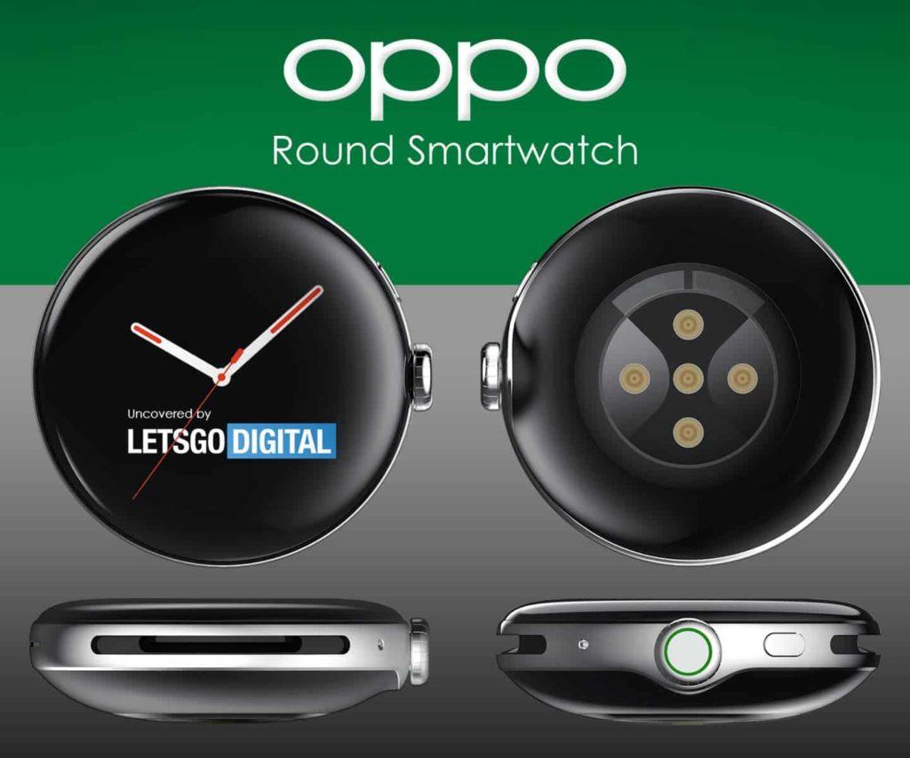Η Oppo κατοχυρώνει ένα έξυπνο ρολόι με στρογγυλή θήκη και καμπύλη οθόνη 3D 1