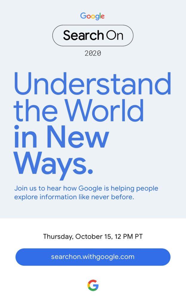 """Ετοιμη είναι μια νέα live εκδήλωση για 15/10, το νέο Google """"Search On"""" event 1"""