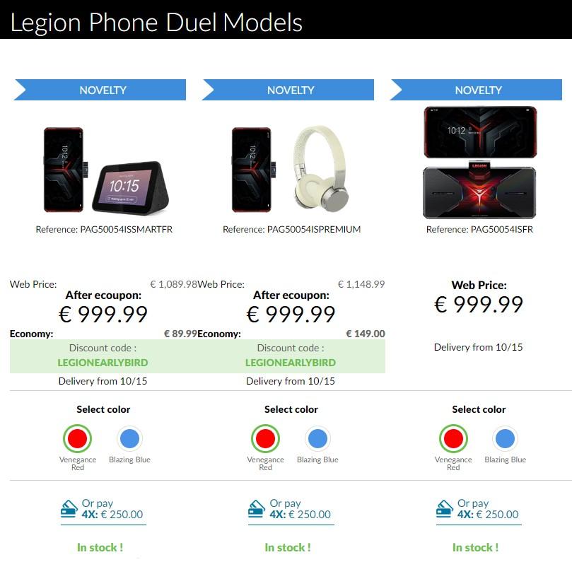 Το τηλέφωνο Lenovo Legion Duel κυκλοφορεί στην Ευρώπη στα 1.000 € 1