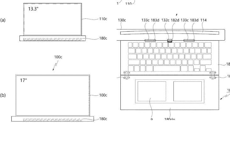 Η LG αρχειοθετεί διπλώματα ευρεσιτεχνίας για ένα rollable laptop με των 17 ιντσών 2
