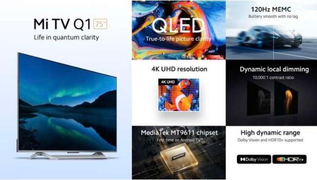 Κυκλοφόρησε η νέα Xiaomi Mi TV Q1 75 ιντσών: 4K, QLED, Bluetooth, Google Assistant και άλλα! 2