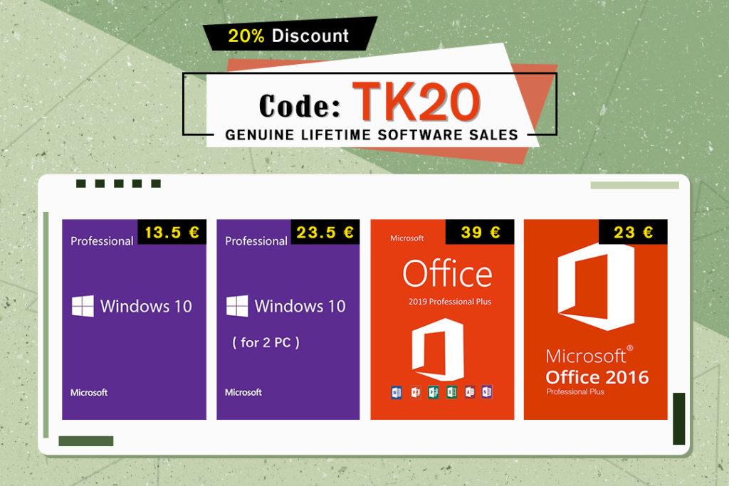 Το techingreek.com και to cidikeys.com σας προσφέρουν ΕΚΠΤΩΣΗ 20%, Windows 10 από 13€, Microsoft Office από 22.5€ ΓΙΑ ΠΑΝΤΑ - σπεύσατε! 1